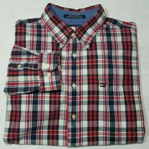TOMMY HILFIGER Mens XL Long Sleeve Plaid Shirt